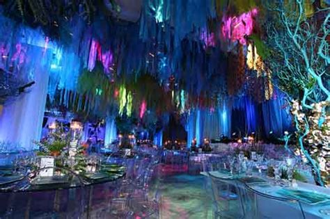 themed formal events under the sea theme lighting makes the event event