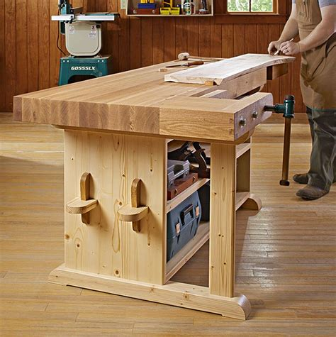 Kitchen Cabinet Decorations Top make a statement workbench woodworking plan from wood magazine