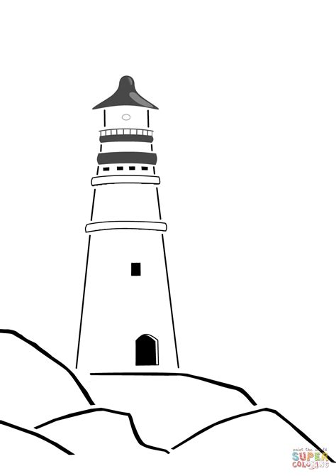 clipart da colorare lighthouse coloring pictures free clipart