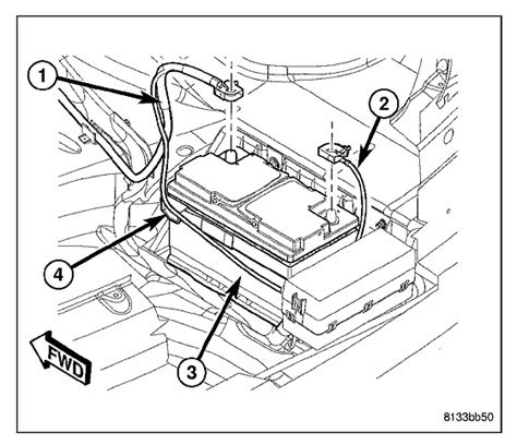 Chrysler 300 Battery Location Chrysler 300 Touring Where Is The Battery Located On A 2006