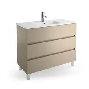 meuble salle de bain 100 cm 3 tiroirs vasque porcelaine