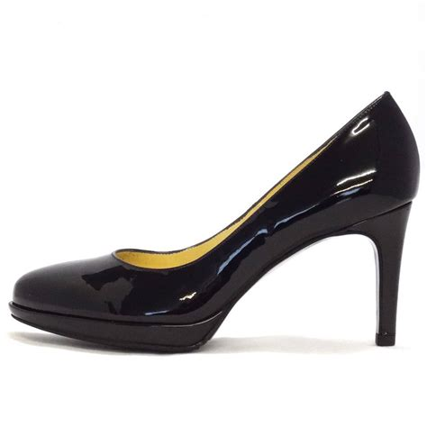 black patent shoes kaiser konia black patent court shoe 79811 010