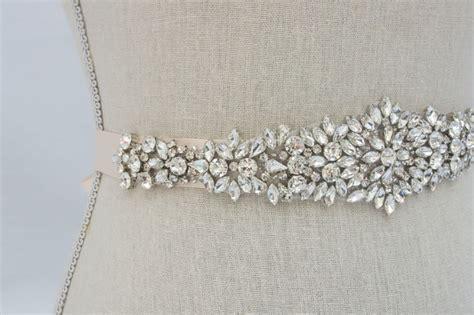 rhinestone applique wedding applique bridal sash