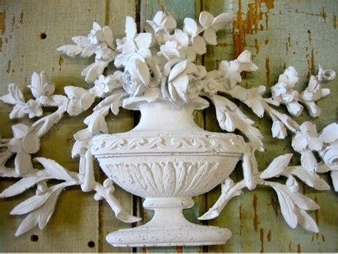 shabby chic rose bouquet furniture appliques onlays resin wood mouldings