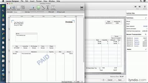 tutorial quickbooks pdf quickbooks invoice tutorial invoice template ideas