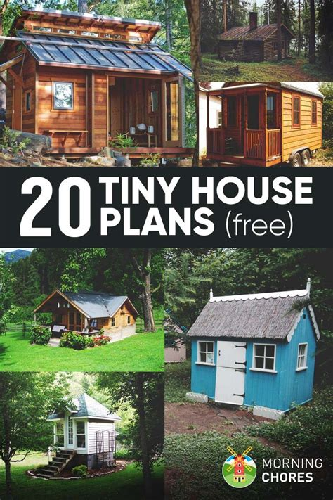 greater than 20 ideal free tiny home plans new get build 20 free diy tiny house plans to help you live the small