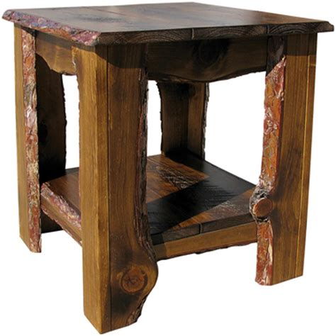 rustic wood end tables thelt rustic sawn end table