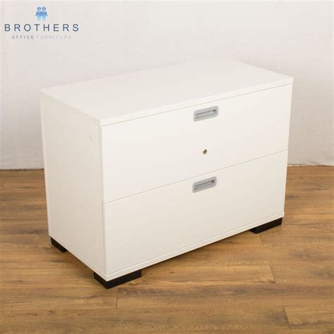 White Lateral File Cabinet 2 Drawer Senator White 2 Drawer Lateral Filing Cabinet