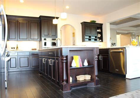 kitchen islands with posts kitchen island burrows cabinets central builder direct custom cabinets