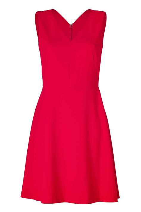 Bright Red V Neck Linen Dress, Custom Fit, Handmade, Fully