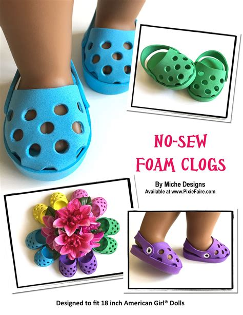 diy american doll shoes no sew foam clogs 18 quot doll shoes a well crafts and