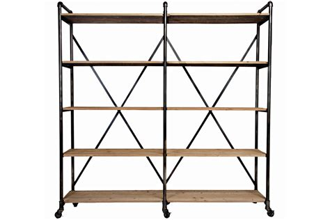 ludlow metal and wood shelf
