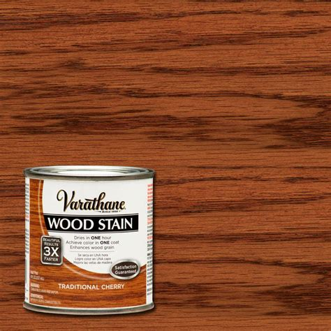 varathane 1 2 pt traditional cherry wood stain 266202