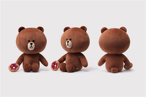 Line Official Merchandise Season 4 Brown Plush Doll 28cm sns line friends brown cony large plush stuffed character doll 18 quot 2types ebay