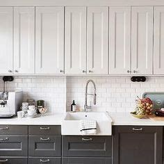 Black And White Kitchen With White Top Cabinets And Black Kitchen Cabinets White Top Black Bottom