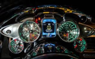 pagani huayra gauges interior supercar dashboard wallpaper