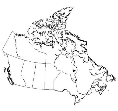 free blank outline maps of canada