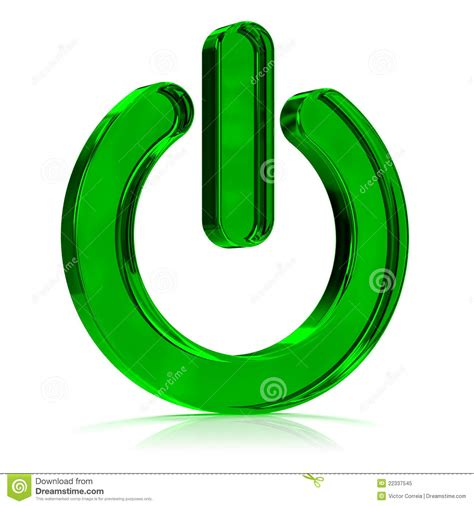Power Green power on green icon royalty free stock photo image 22337545