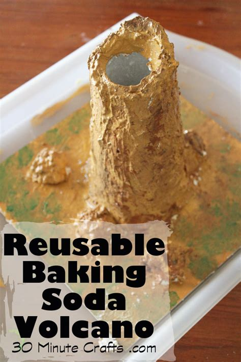 reusable baking soda volcano 30 minute crafts