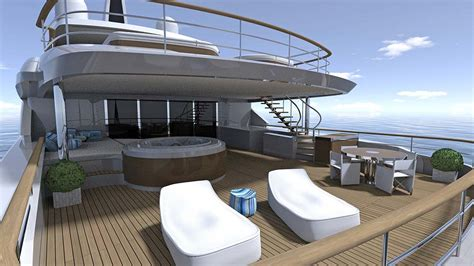 yacht upper deck project balance upper deck photo by benetti yachts