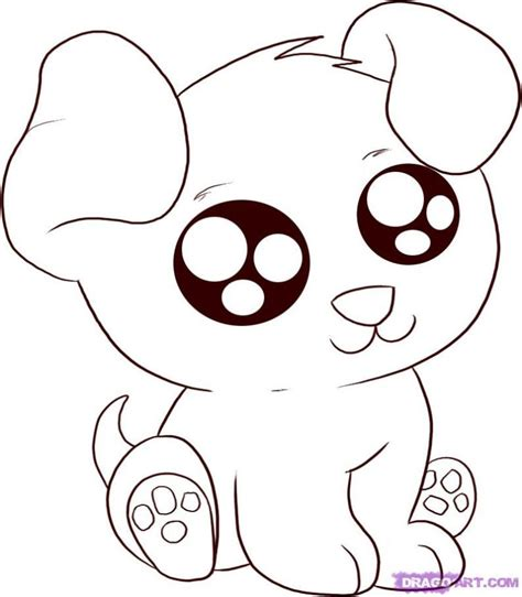 coloring pages of cute animals with big eyes cute cartoon animals coloring pages drawing pinterest