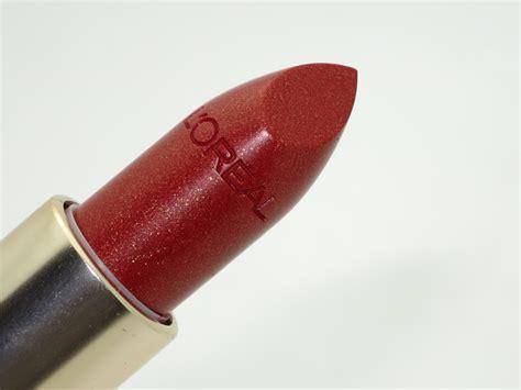 how do you a lava l l oreal blazing lava colour riche lipstick review