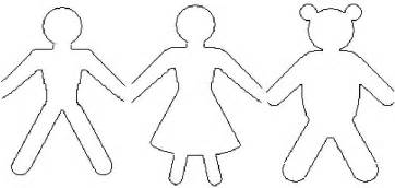 paper dolls template chain paper dolls