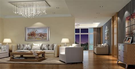 living room modern lighting 3d house