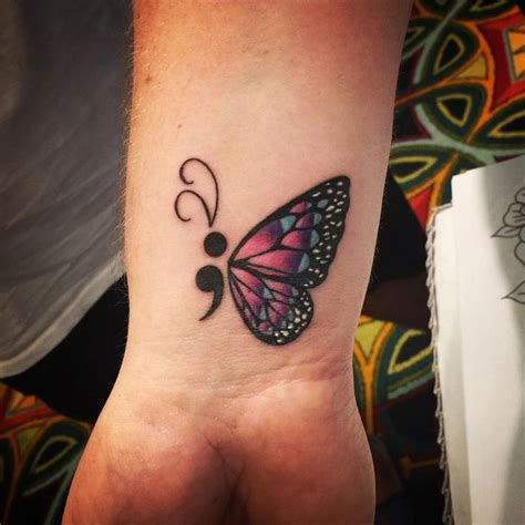 tattoo butterfly semicolon image result for semicolon tattoo ideas semi colon