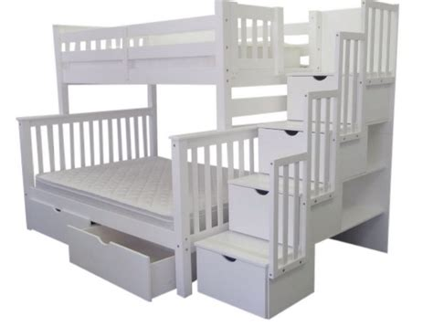 white bunk beds with stairs ikea white bunk bed 230 reduced ikea tromso white metal