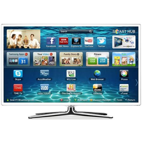 Led Tv Samsung 32 Inch White samsung ue32f6510 ue32f6510sbxxu white 32 inch smart 3d led tv wifi 400hz dlna skype