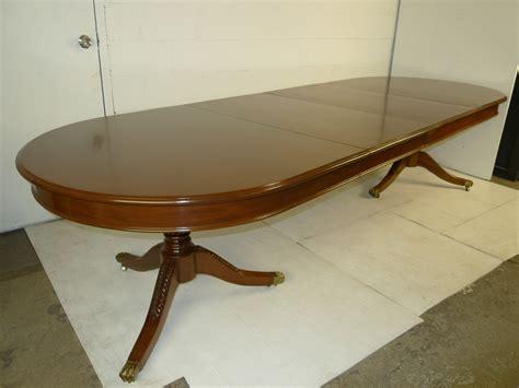 solid mahogany dining table georgian style solid mahogany dining table 2 leaves brass