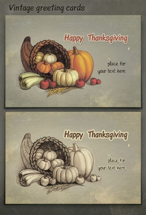 thanksgiving card template psd print templates happy thanksgiving graphicriver