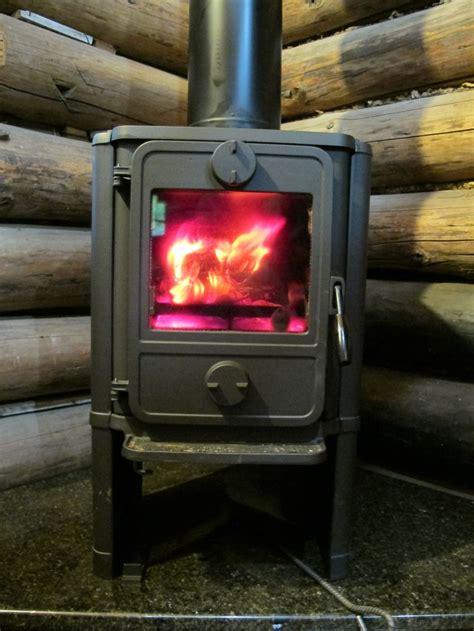 morso 1440 convection squirrel installed in the cabin it