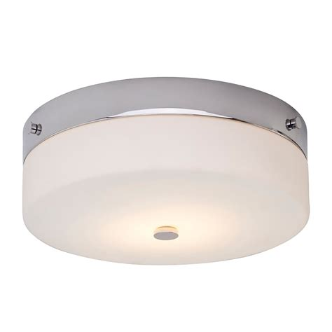 led flush fitting bathroom ceiling light opal glass with chrome ring elstead lighting tamar single led large flush bathroom ceiling light in polished chrome finish