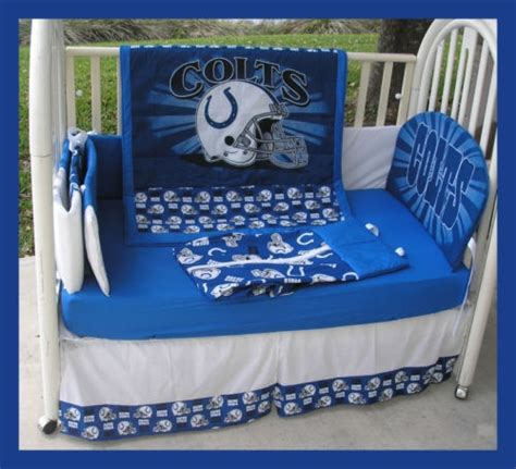 Colts Crib Bedding New Crib Bedding Set Made W Indianapolis Colts Fabric