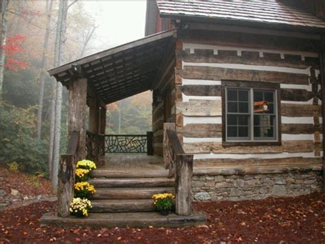log cabin porch dreams decor pinterest mums on the steps for fall old log cabins pinterest