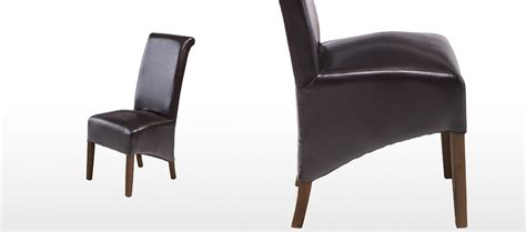 Brown Leather Dining Chairs Uk Cube Bonded Leather Dining Chairs Brown Pair Quercus Living