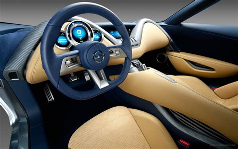 Sports Car Interior by 2011 Nissan Electric Sports Concept Car Interior Wallpaper