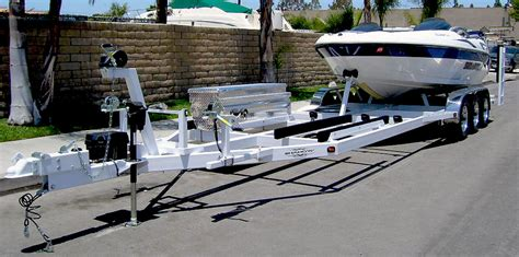 pontoon boat jet ski combo combination boat and watercraft trailer shadow trailers