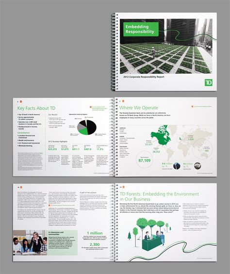 layout web design pdf td corporate responsibility interactive pdf print design