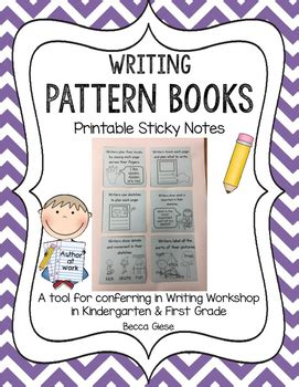 pattern of writing a novel pattern book writing printable sticky notes by becca giese