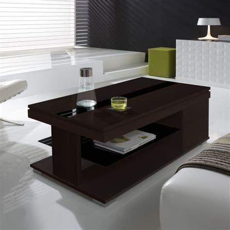 table basse relevable weng 233 et verre noir meuble