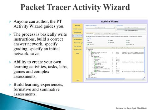 cisco packet tracer activity wizard tutorial essential tools for data comm engineers