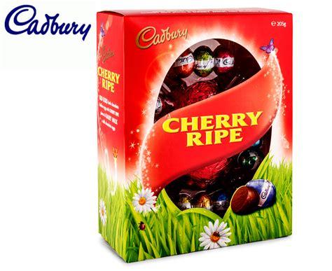 Cadbury Cherry Ripe 180g cadbury cherry ripe egg gift box 205g great daily deals at australia s favourite superstore