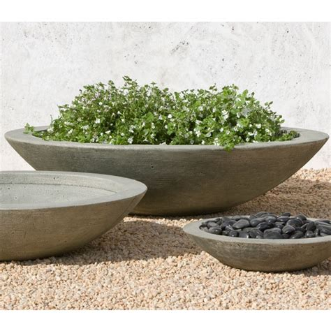 Large Outdoor Bowl Planters by Low Zen Large Cast Bowls Pots And Planters