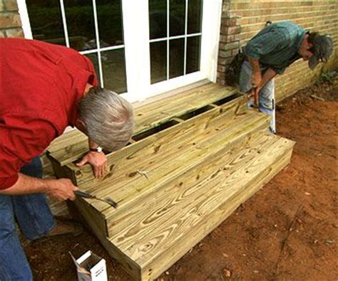 build outdoor wooden steps  spruce   entry