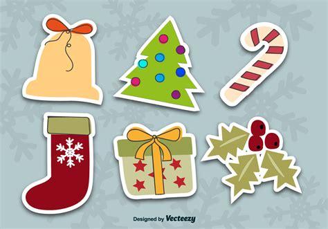 Aufkleber Weihnachten Kostenlos by Stickers Free Vector Stock