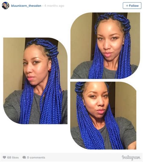 where to find mixed color braiding hair 16 stunning photos of colored box braids the summer