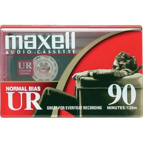 maxell audio cassette maxell normal bias ur 90 minute audio cassette 108510 b h